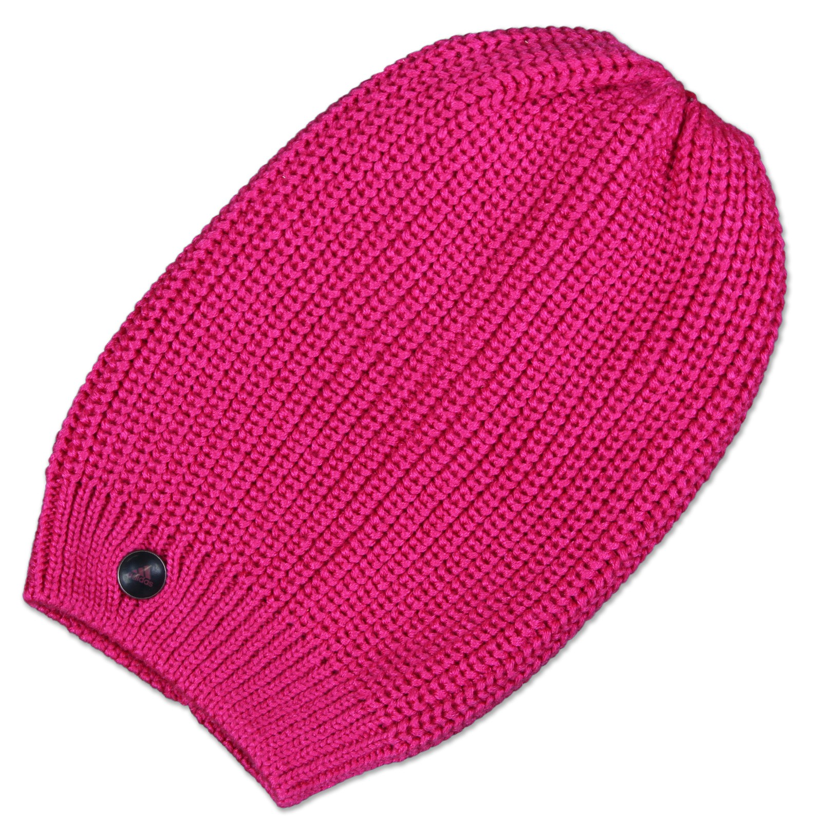 Details about Adidas Perfor  Ance Ladies Ess 3S Long Beanie Chunky Knitted  Winter Hat Pink 2c6eb0c39b