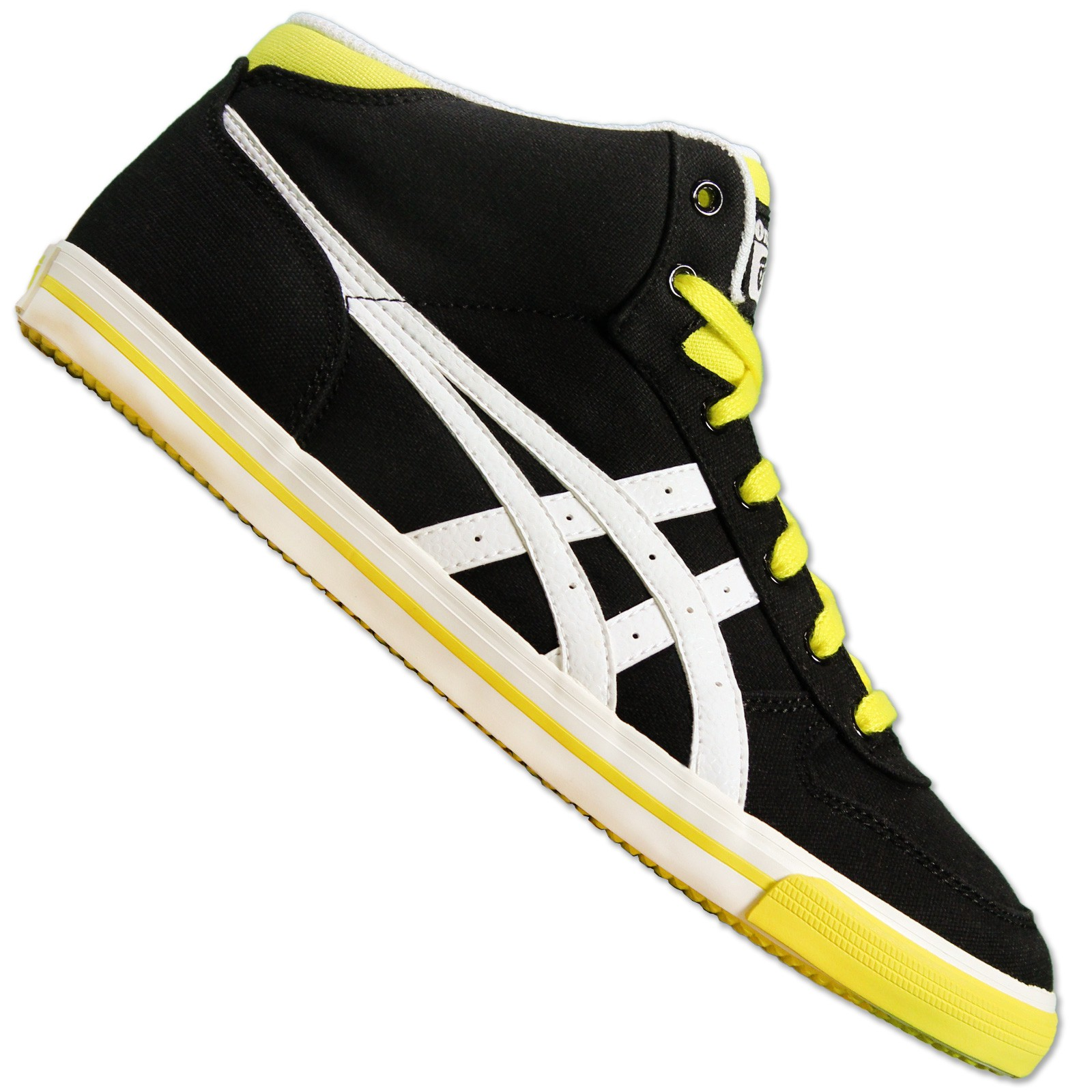 huge selection of fd483 556e8 ASICS ONITSUKA TIGER AARON MT MID TOP SNEAKER SCHUHE MEXICO 66 SCHWARZ  WEISS GELB