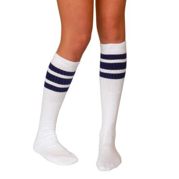 "SKATERSOCKS USA Tube Socks 22"" - weiß/dunkelblau – Bild 1"