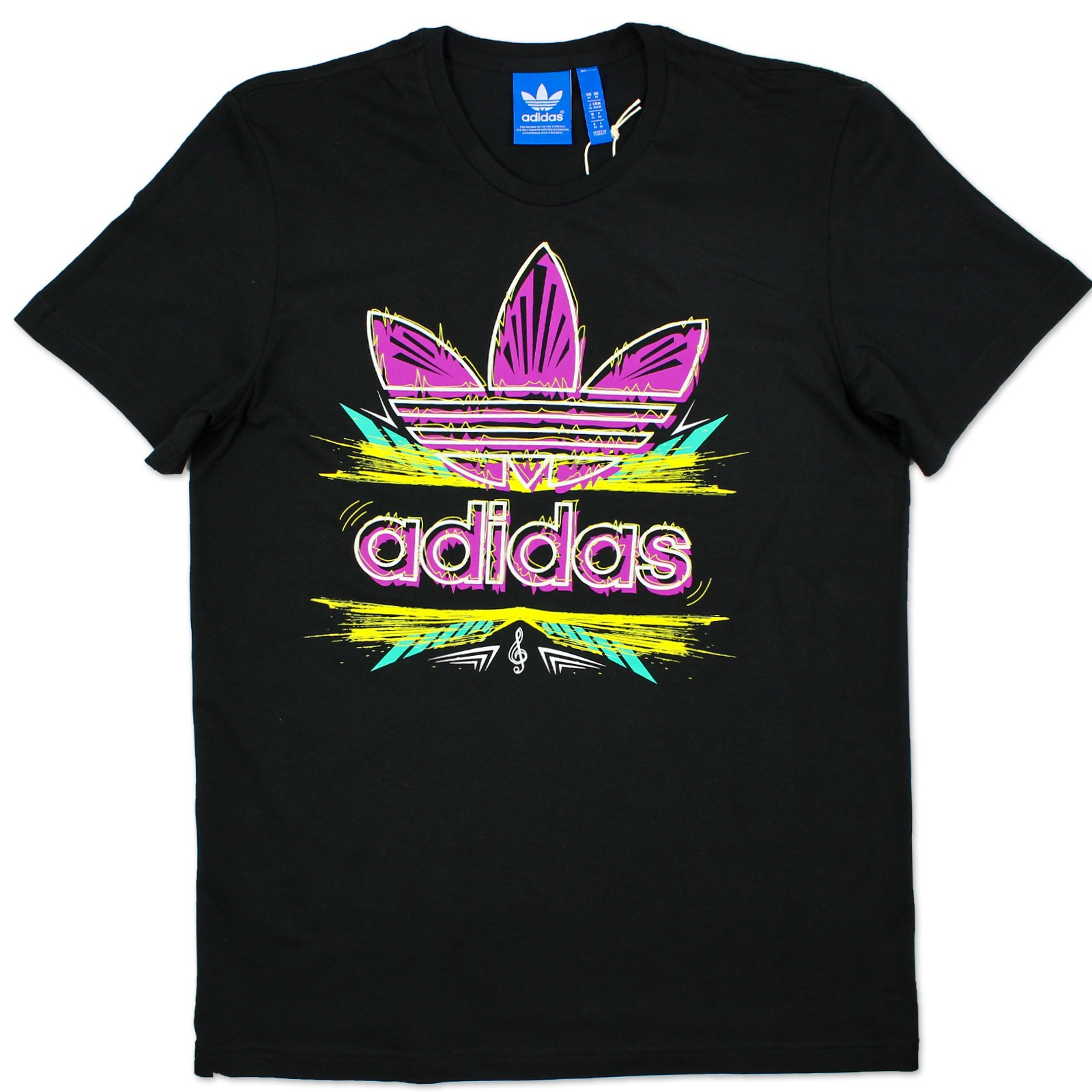 Adidas originals g ethnic evo trefoil tee herren musik for Adidas long sleeve t shirt with trefoil logo
