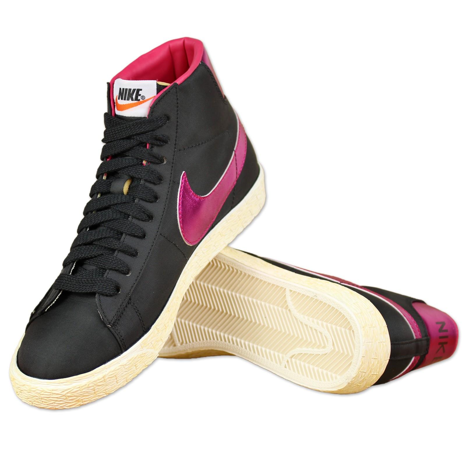 Schwarz Vintage Schuh Freizeit Nike High Blazer Oldschool AR34j5L