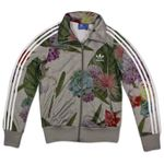 ADIDAS FIREBIRD FLOWER ROSE TRACK TOP JACKE DAMEN TRAININGSJACKE GRAU AK0636 001