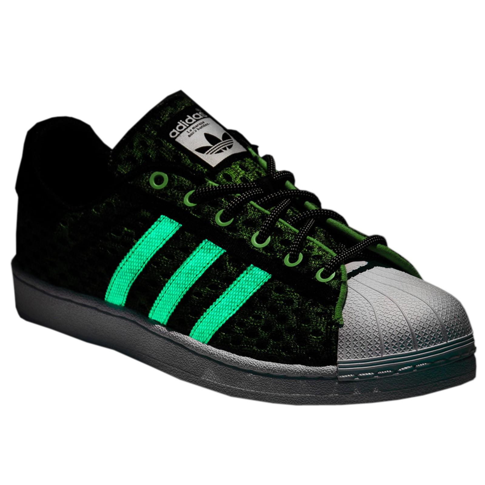 Détails sur Adidas Originals Superstar Gid Luminescent Chaussures Baskets F37671 Vert