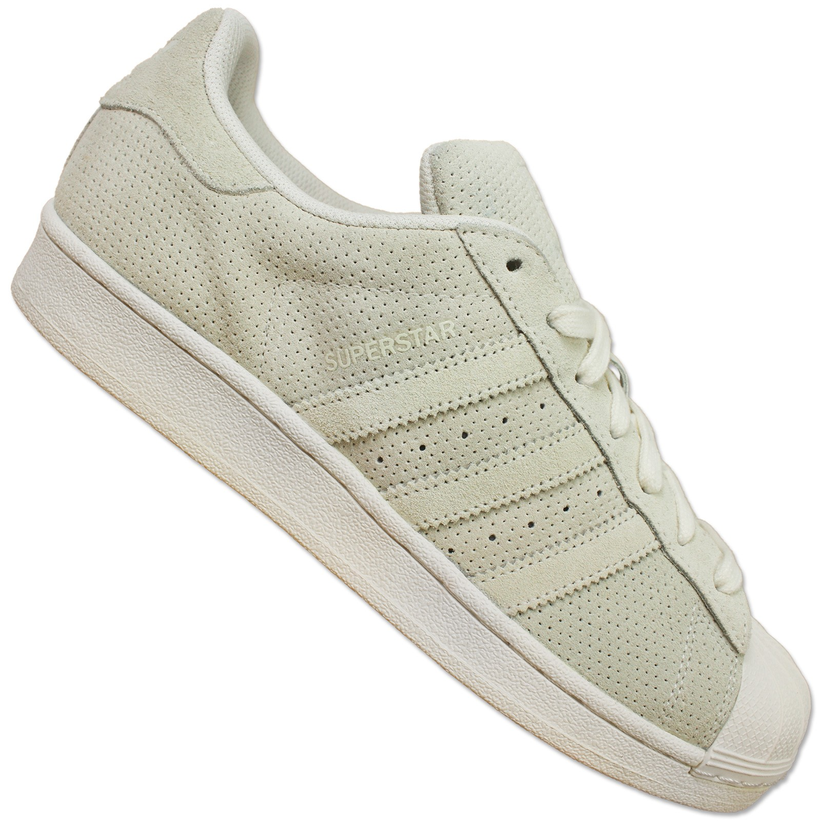Détails sur Adidas Originals Superstar II S79477 Chaussures Baskets Cuir Gris Perforé