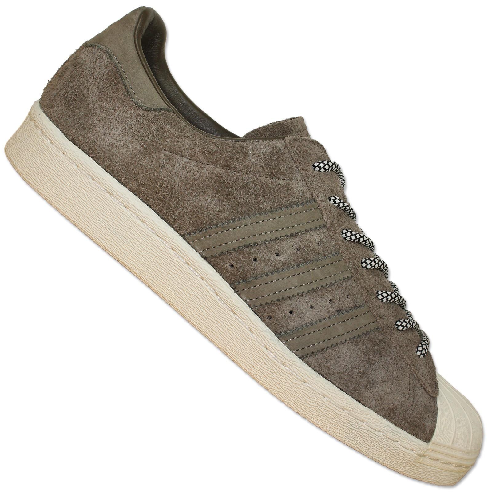 S75848 Suede Leder Sneaker Schuhe Originals 80s Braun Superstar Samba Adidas f6Y7gyb