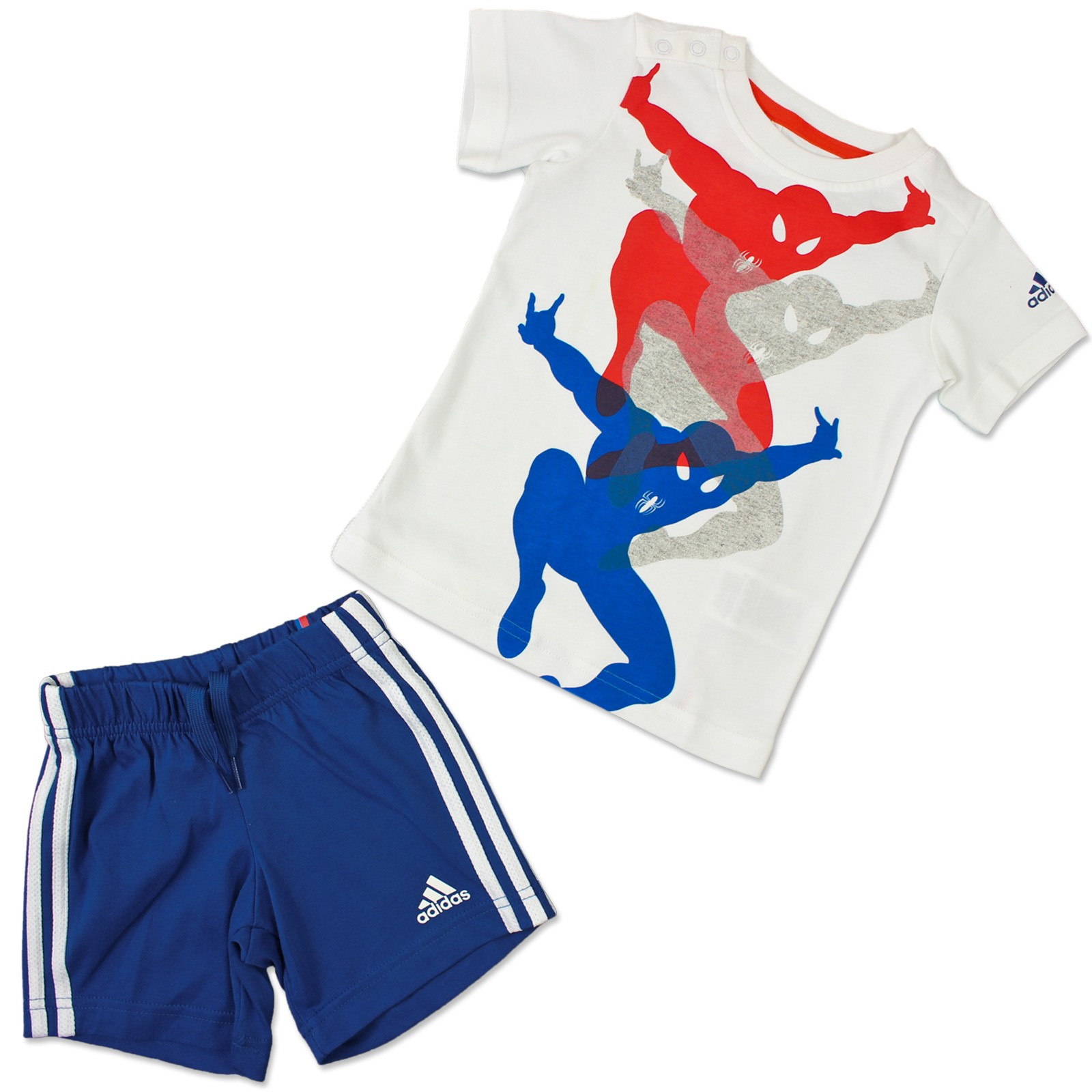 new release nice shoes store ADIDAS + MARVEL BABY KINDER SOMMER SET ANZUG SPIDERMAN HOSE + T-SHIRT SPINNE