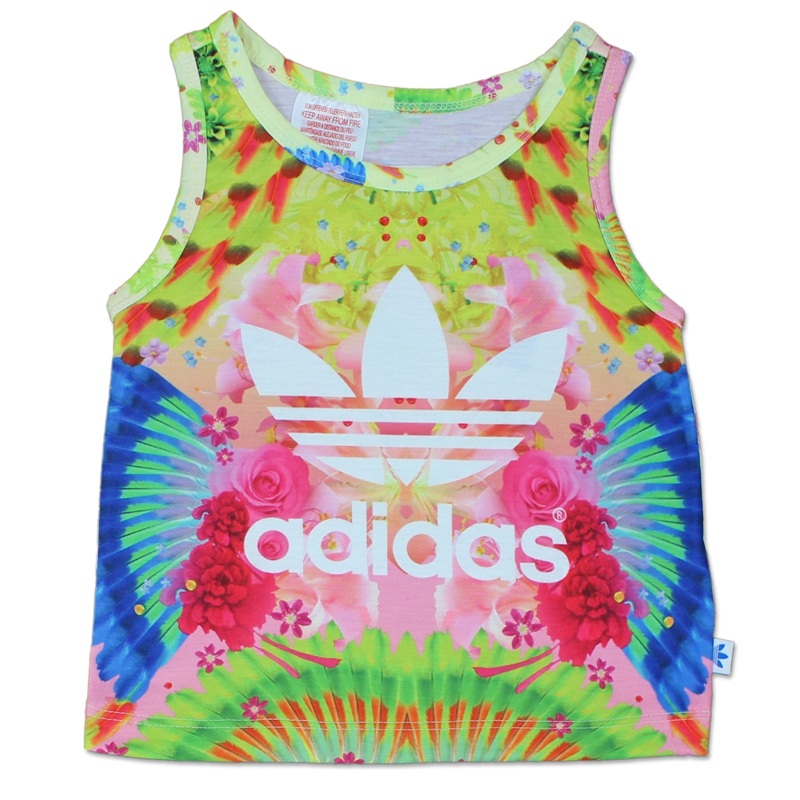crazy price clearance sale look for ADIDAS KINDER FEATHER FLOWER TREFOIL SET 2-TEILIG MÄDCHEN SHORTS TANK TOP  ROSA