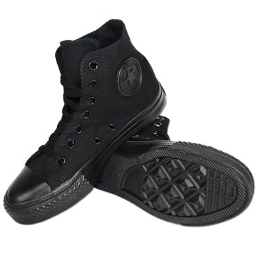 CONVERSE All Star Chucks Mono Black High – Bild 2