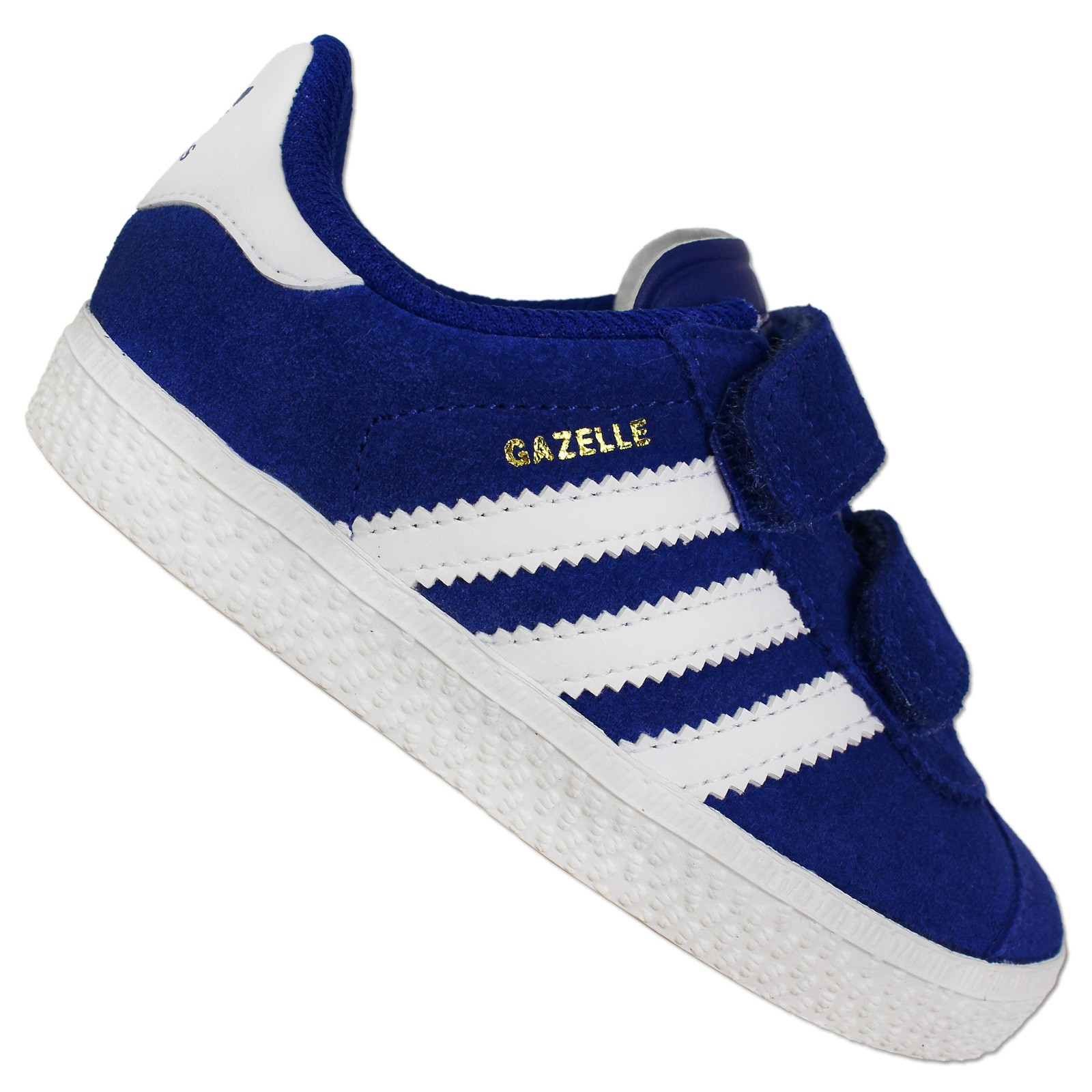 buy popular dfaf4 d3ab3 Details about Adidas Originals Gazelle 2 II Children s Sneakers Wild  Leather Shoes Blue White