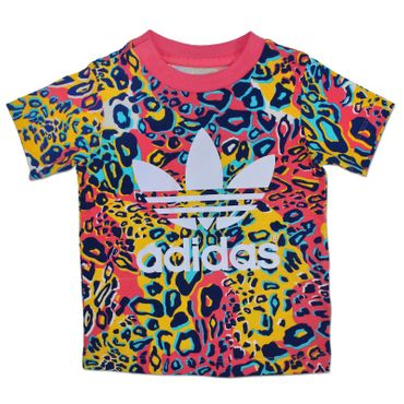 ADIDAS ORIGINALS - Kinder Leopard Trefoil All Over Print Shirt – Bild 1