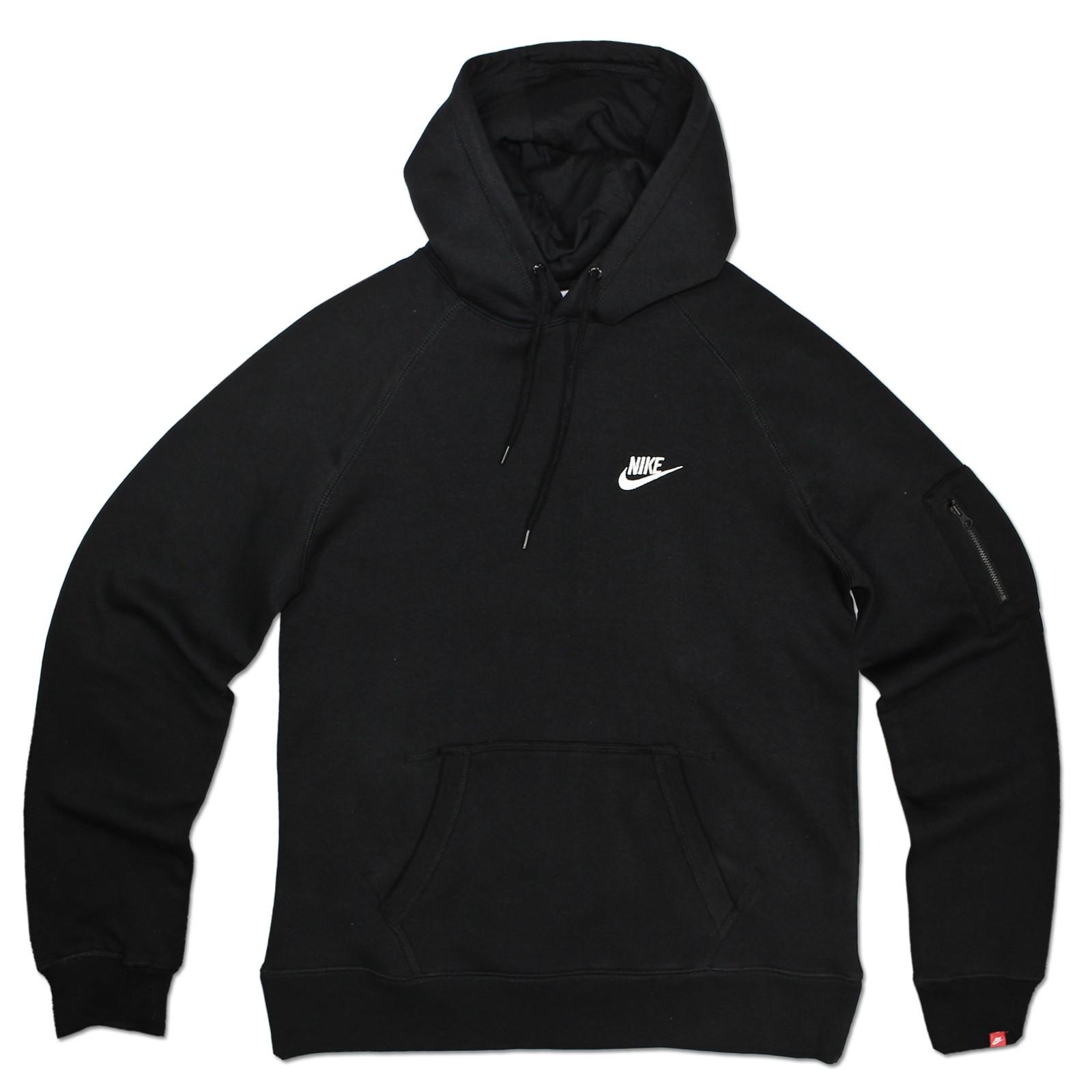 Détails sur Nike logo Swoosh Hoodie Polaire Capuche Sweater Hoody Sweatshirt Sweatjacke Noir afficher le titre d'origine