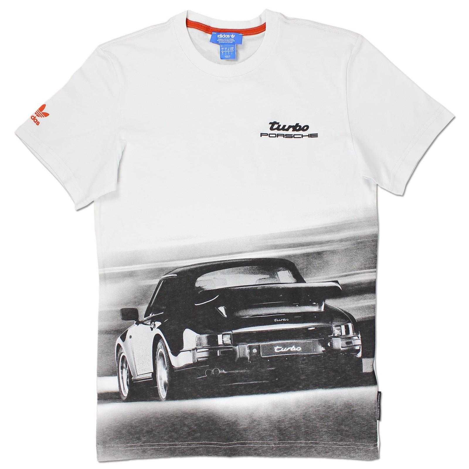 adidas originals mens porsche 911 turbo design tee shirt. Black Bedroom Furniture Sets. Home Design Ideas