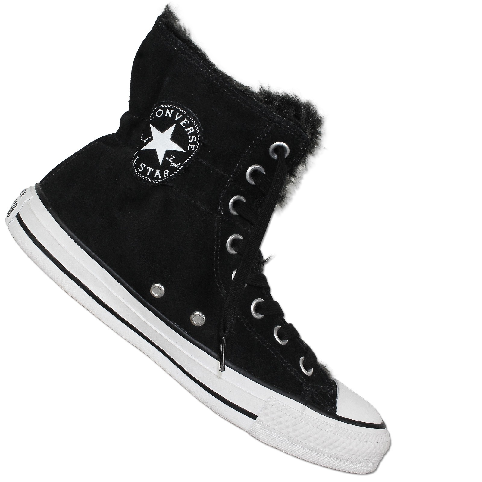 huge selection of 68514 b0caf CONVERSE ALL STAR CHUCK TAYLOR CT CLR SCRUNCH HI SCHWARZ WINTER SCHUHE  GEFÜTTERT