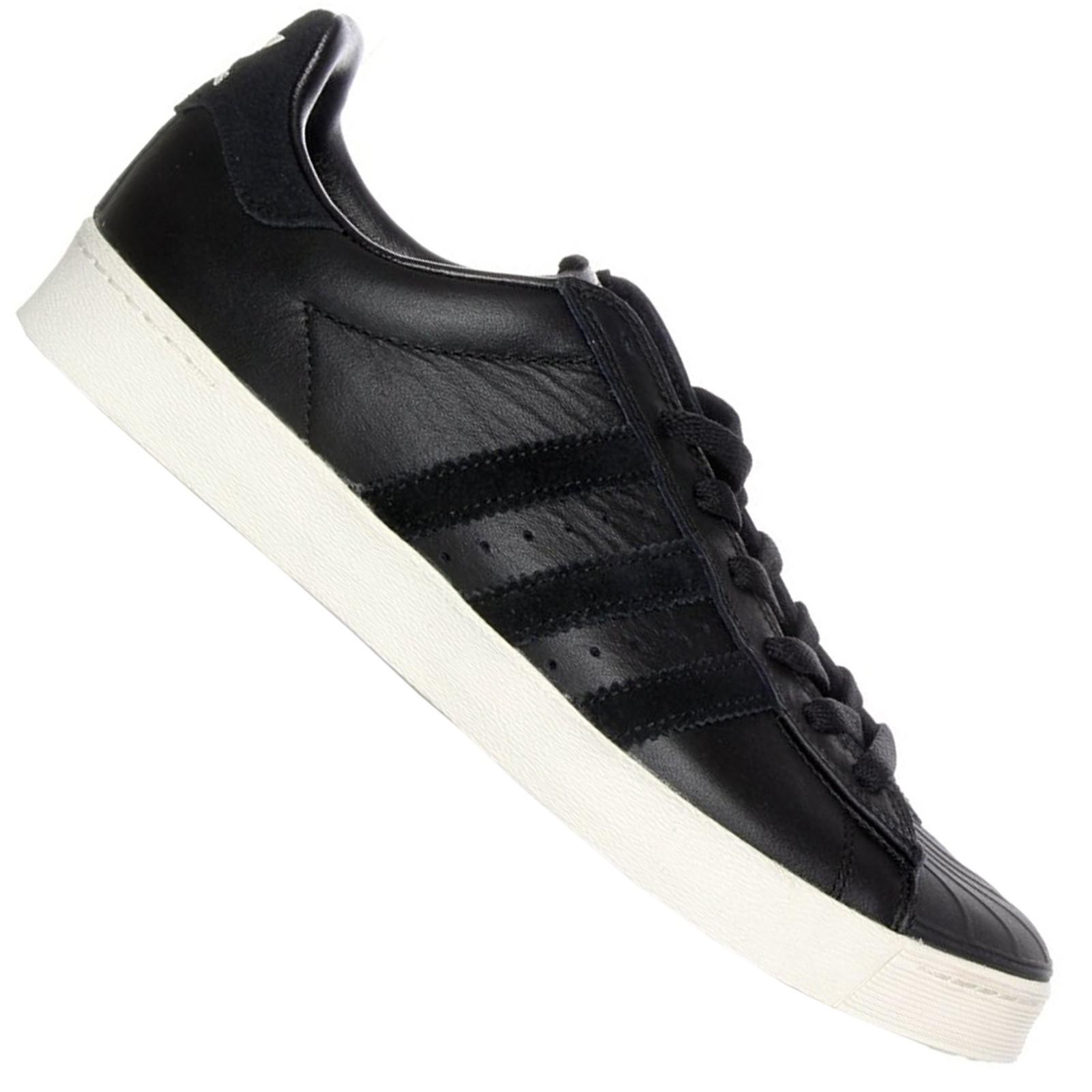official photos 1df81 a46e6 Details about Adidas Originals Superstar Vulc Adv Trainers Shoes Leather  Black Classic