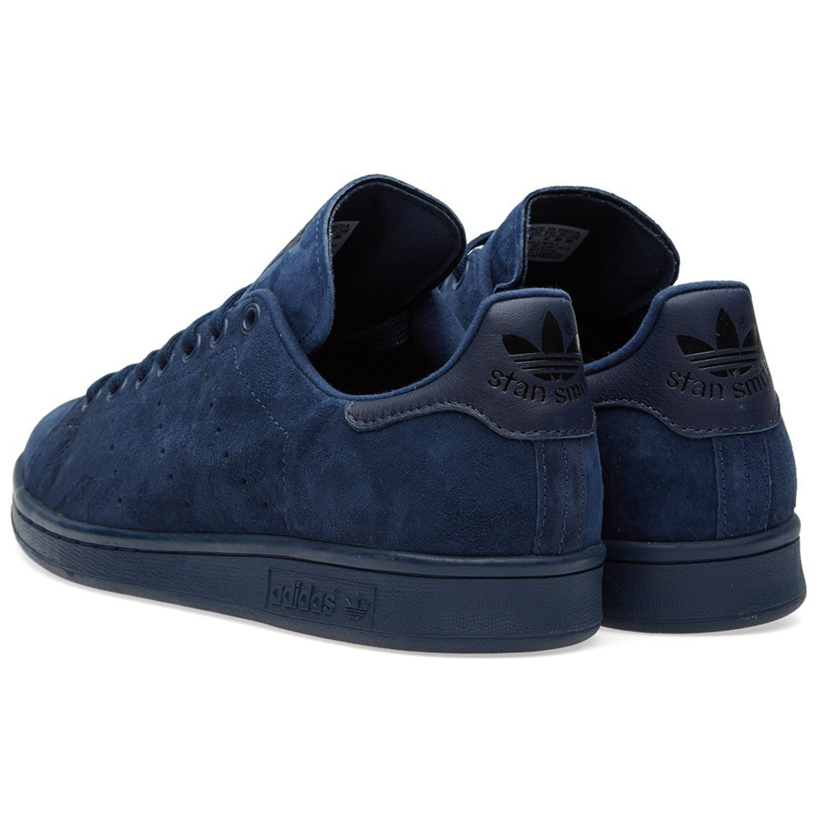 ADIDAS STAN SMITH CLEAN SNEAKER SCHUHE WILDLEDER S75107 NIGHT INDIGO BLAU