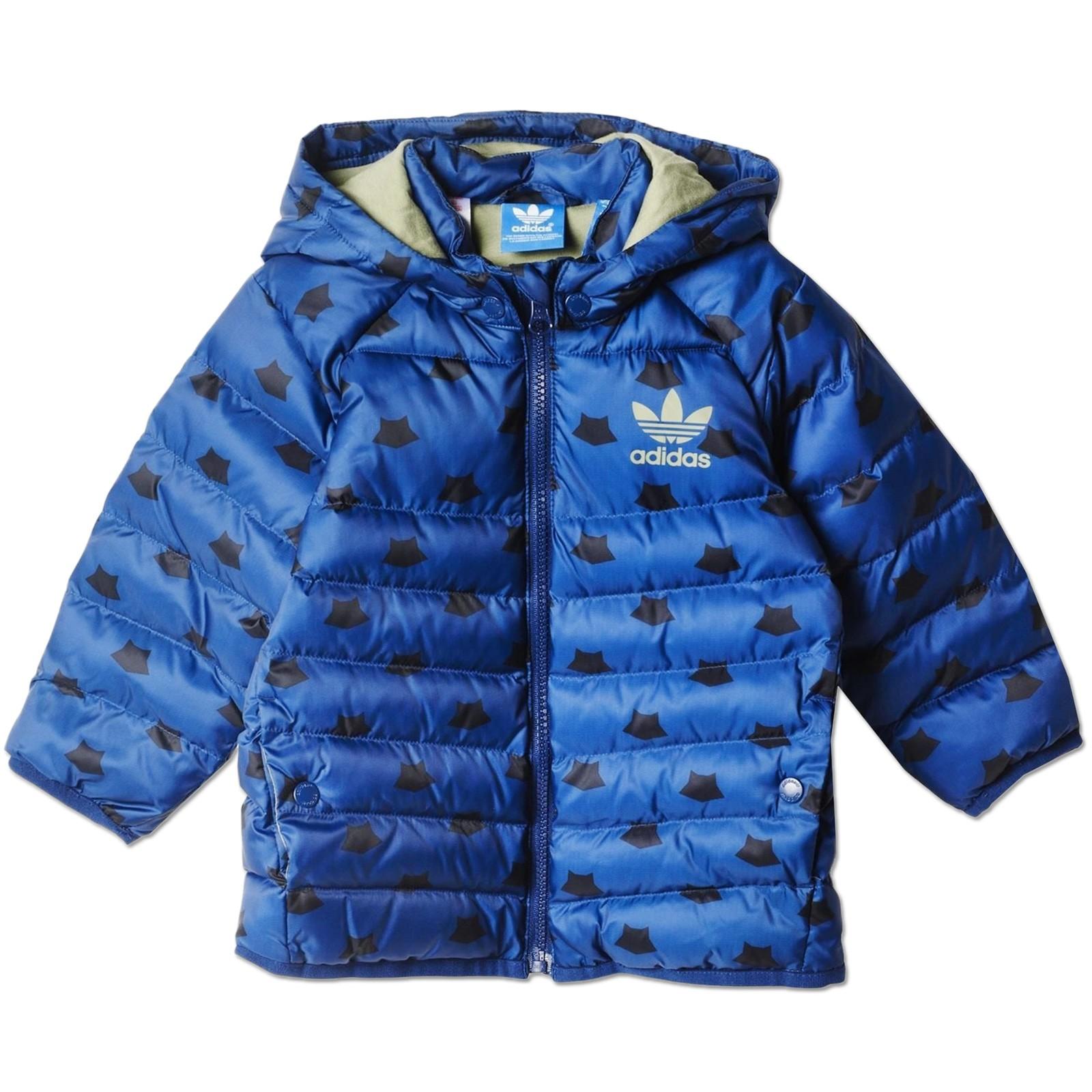 adidas Originals Baby & Kinder MF Jungen Padded Jacke Winterjacke Waschbär  Blau