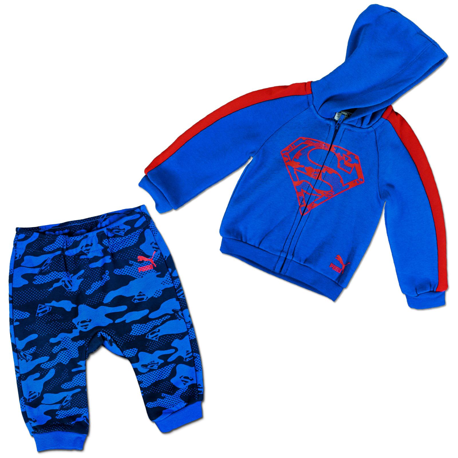 Outlet Store Verkauf Talsohle Preis vorbestellen PUMA KINDER BABY SUPERMAN JOGGER TRAININGSANZUG SPORT ANZUG JACKE + HOSE  BLAU