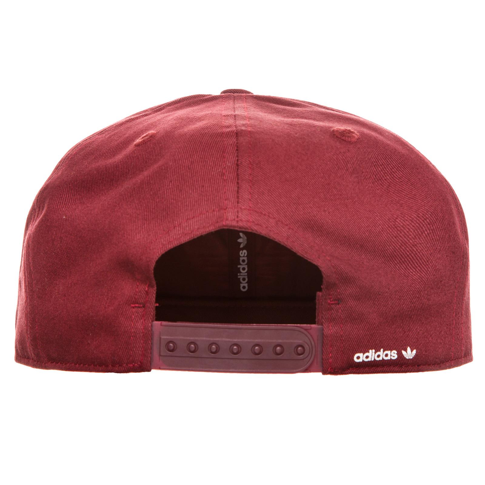 ☆ Adidas Originals Snapback Cap Trefoil weinrotweiß hier