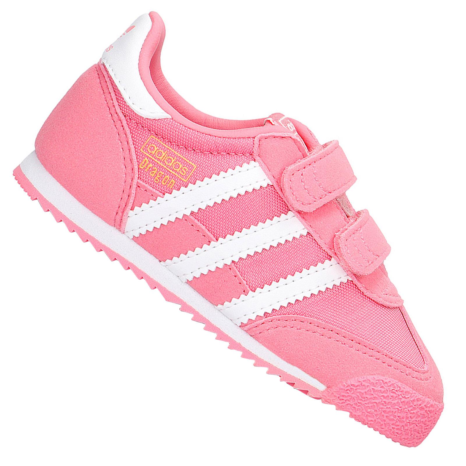 Dettagli su Adidas Originals Dragon Bambini Ragazza Walker Scarpe da Ginnastica BB2500 Rosa