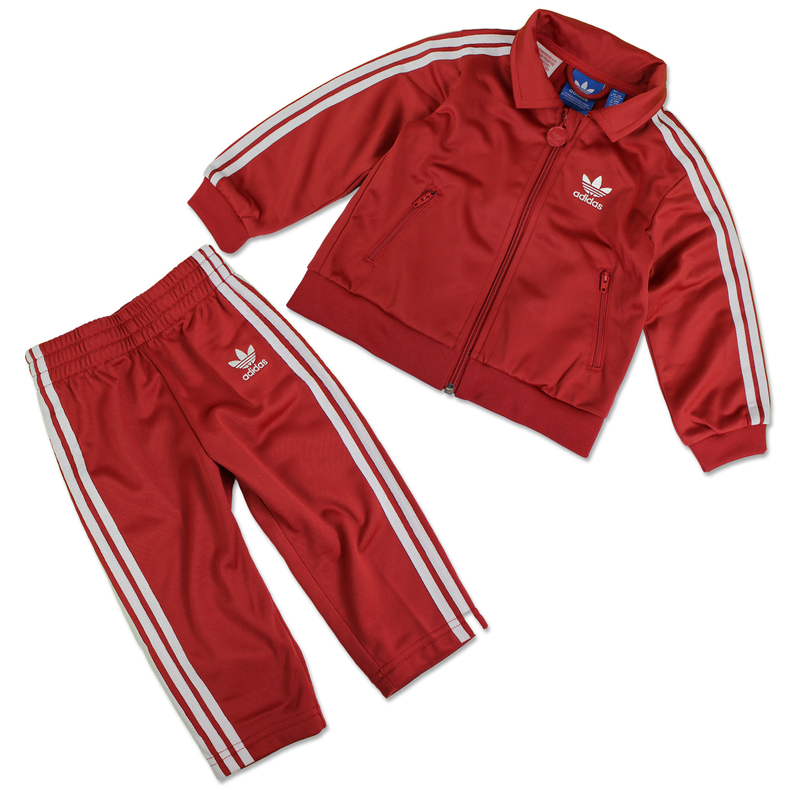 Details zu ADIDAS ORIGINALS FIREBIRD KINDER TRAININGSANZUG SPORT ANZUG RAW RED ROT