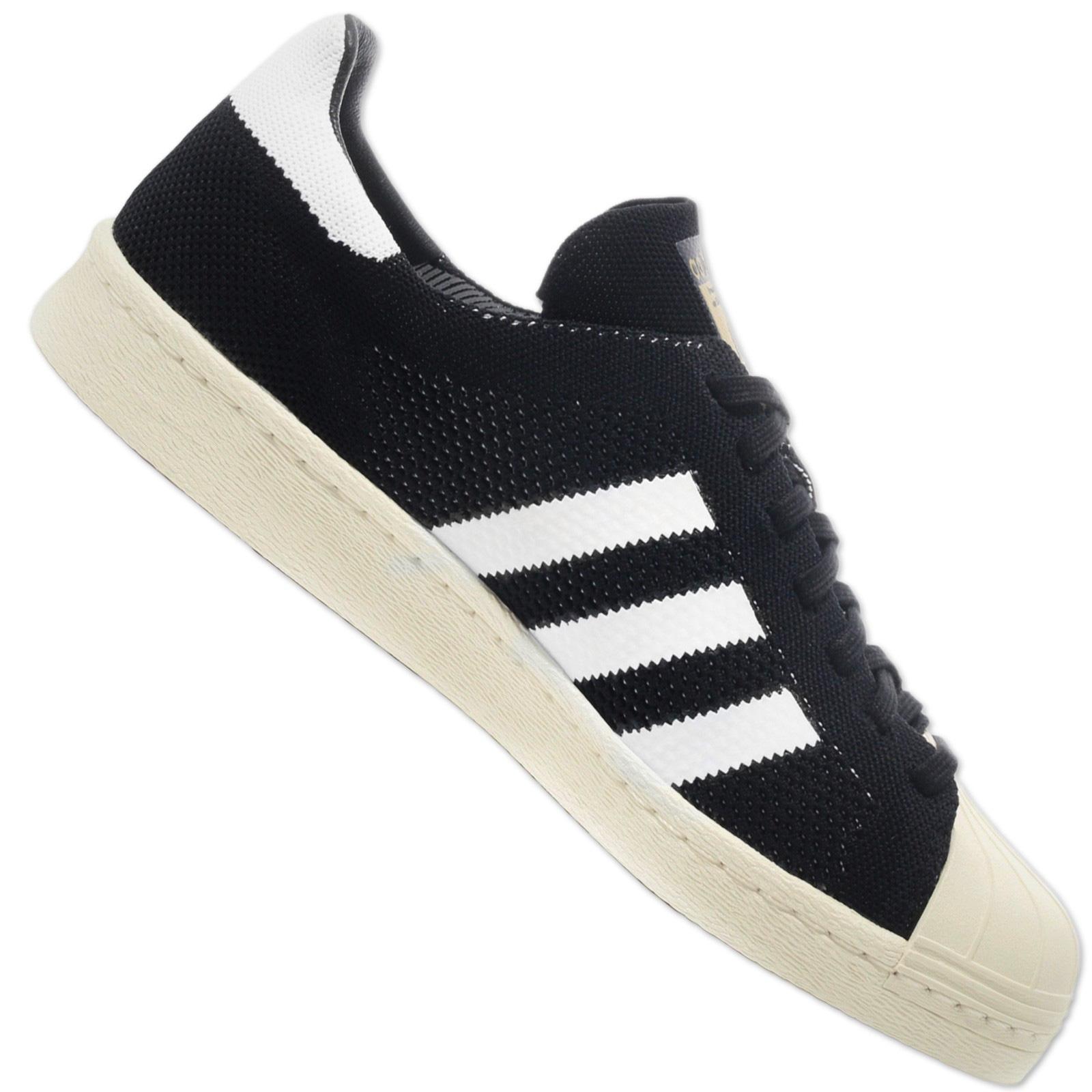 Détails sur Adidas Originals Superstar 80s Prime Primeknit Chaussures Baskets S82780 Noir