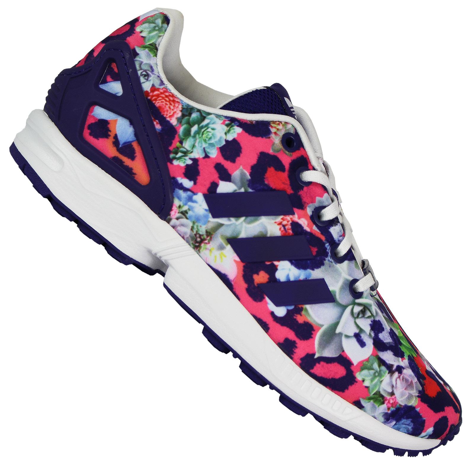 adidas damen sneakers zx flux violett