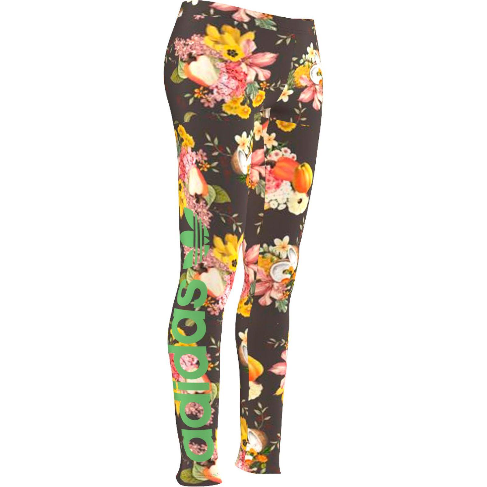 12dadaf39f593 Details about Adidas Originals the Farm Jardim Leggings Sport & Leisure  Trousers Floral