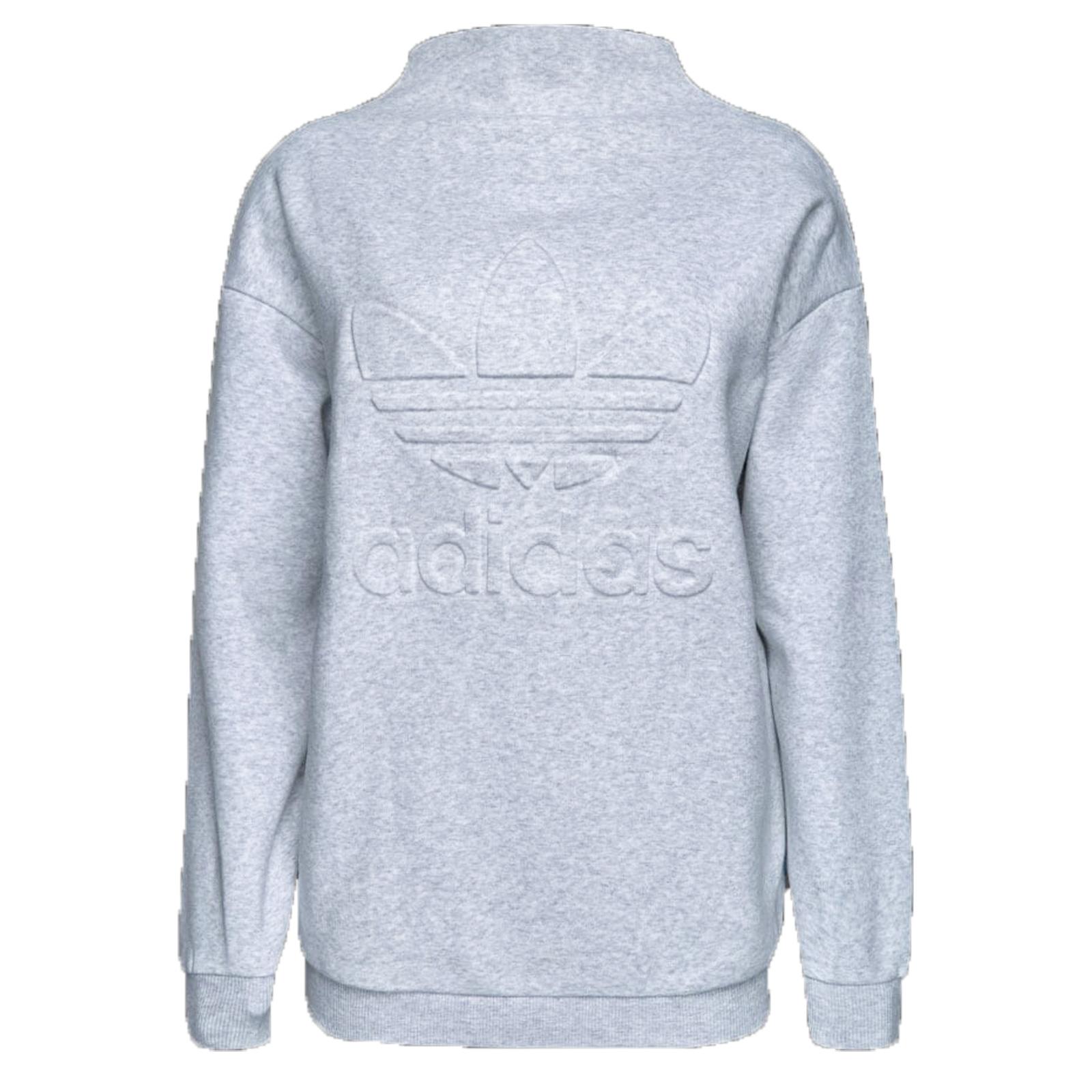 79a629912a2a3 adidas Originals Trefoil NY New York Fleece Damen Sweatshirt kuschelig Grau