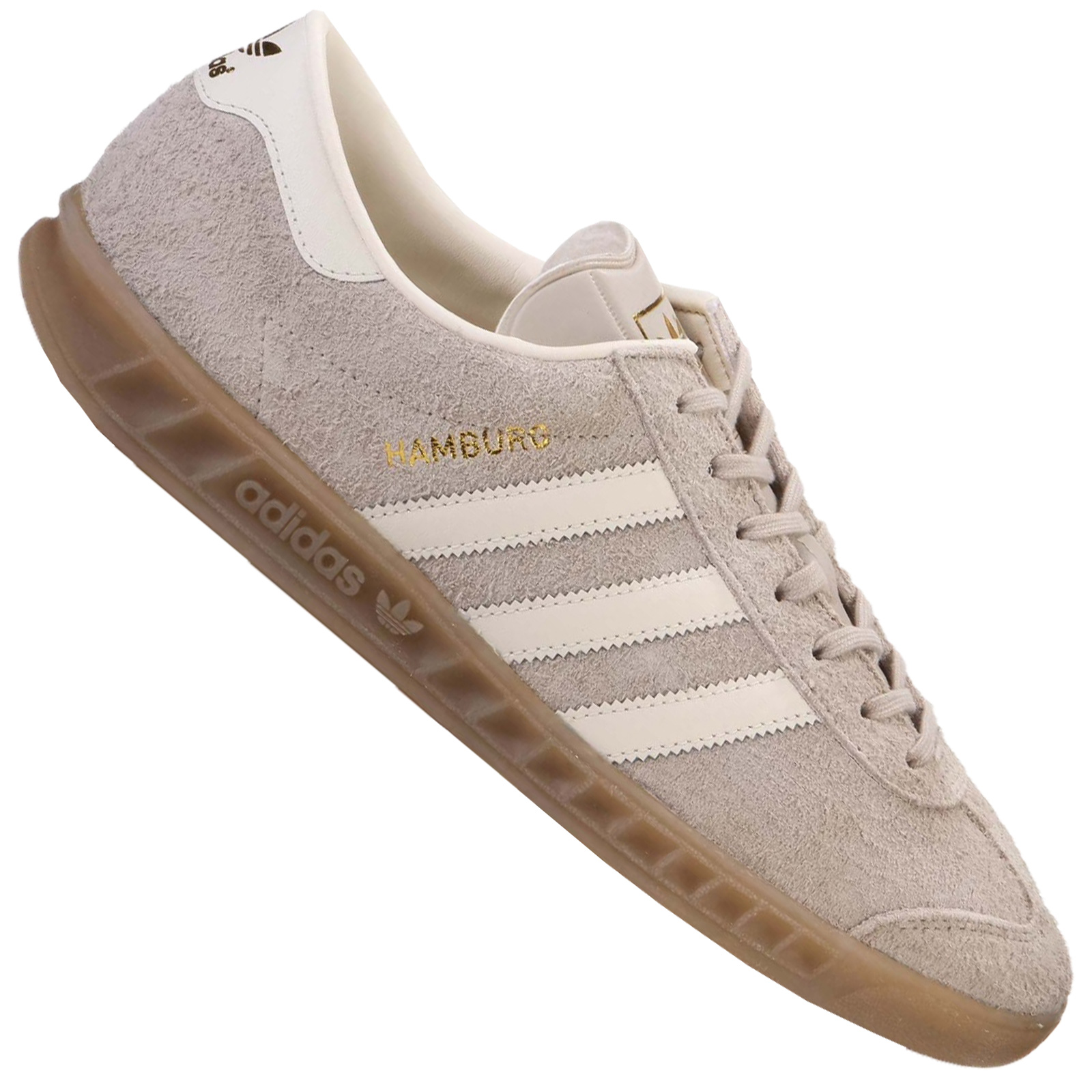 Details about Adidas Originals Hamburg Women's Sneakers Suede Trainers BB5110 Beige White