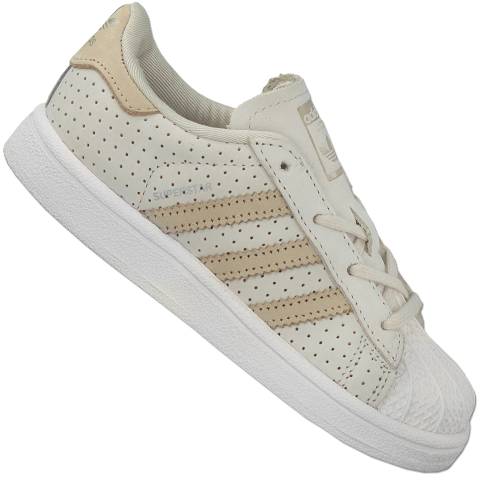 Details about Adidas Originals Superstar Fashion Baby Walker Shoes Kids Sneaker Beige