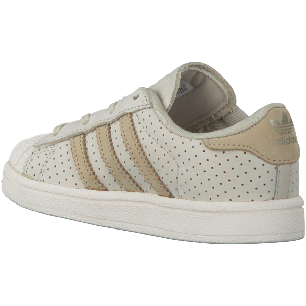 adidas Originals Superstar Fashion Baby Lauflern Schuhe Kinder Sneaker Beige