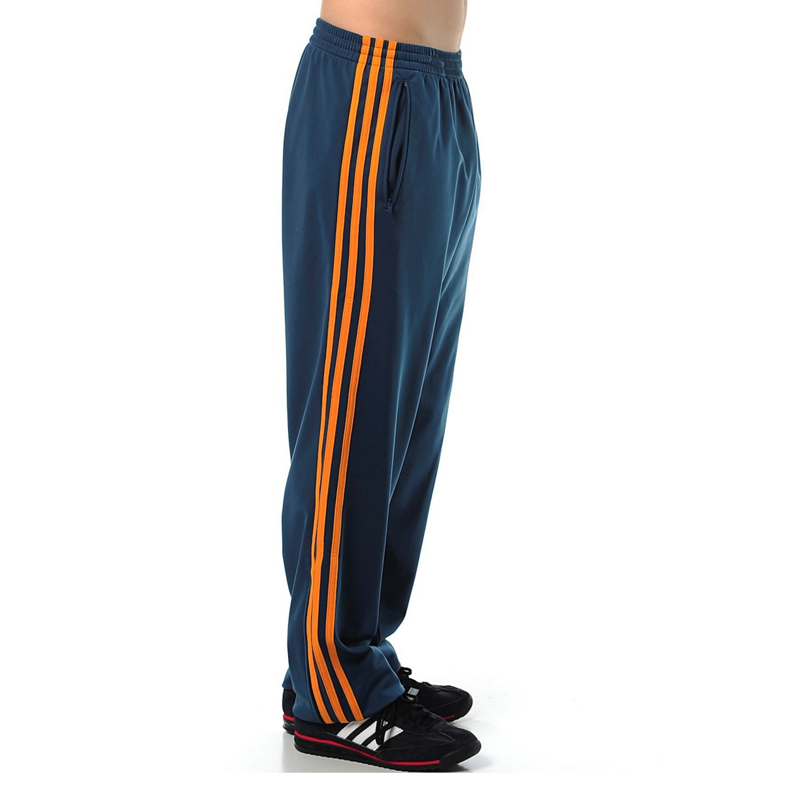 adidas Originals Herren Adi Firebird Sporthose Trainingshose Hose Blau Orange