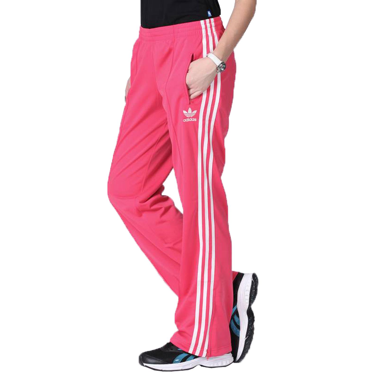 new high order online low cost adidas Originals Firebird TP Track Pants Damen Trainingshose Sporthose Pink  Weiß