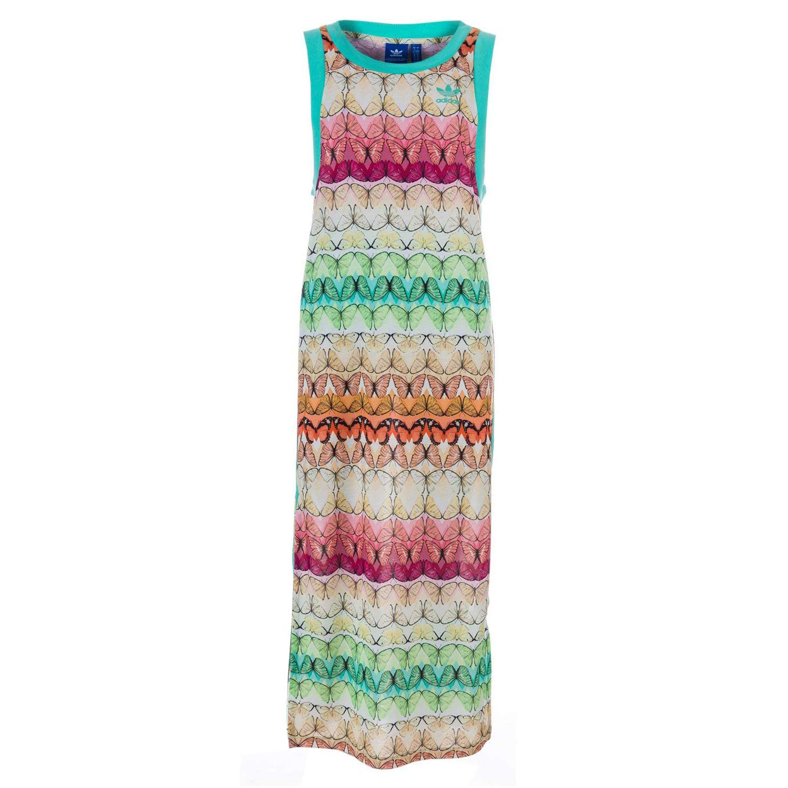 adidas Originals X The Farm Borbofresh Tank Dress Maxikleid Kleid Schmetterling