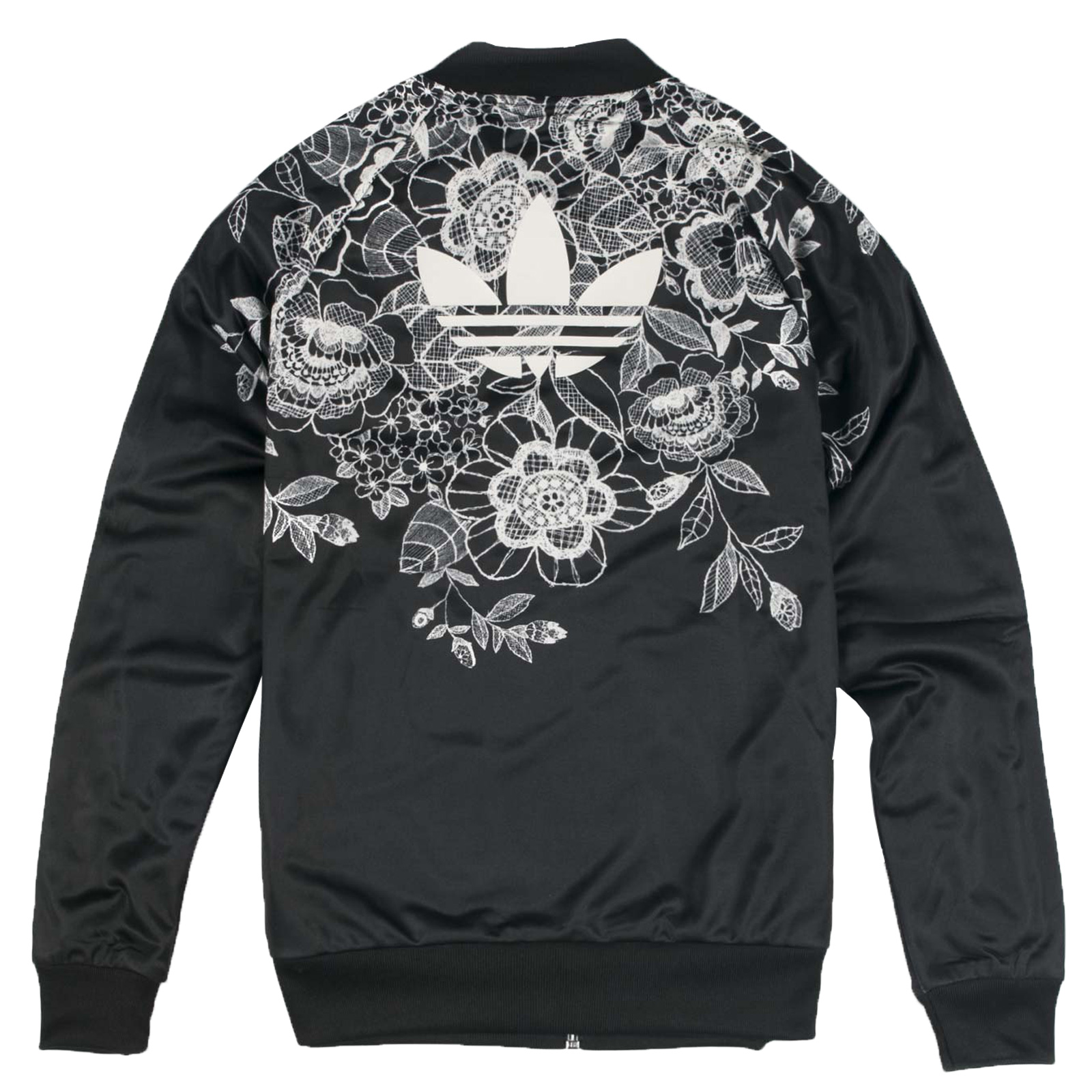 Details about Adidas Originals x The Farm Scenery SST Superstar TT Bomber Jacket Black Flowers show original title
