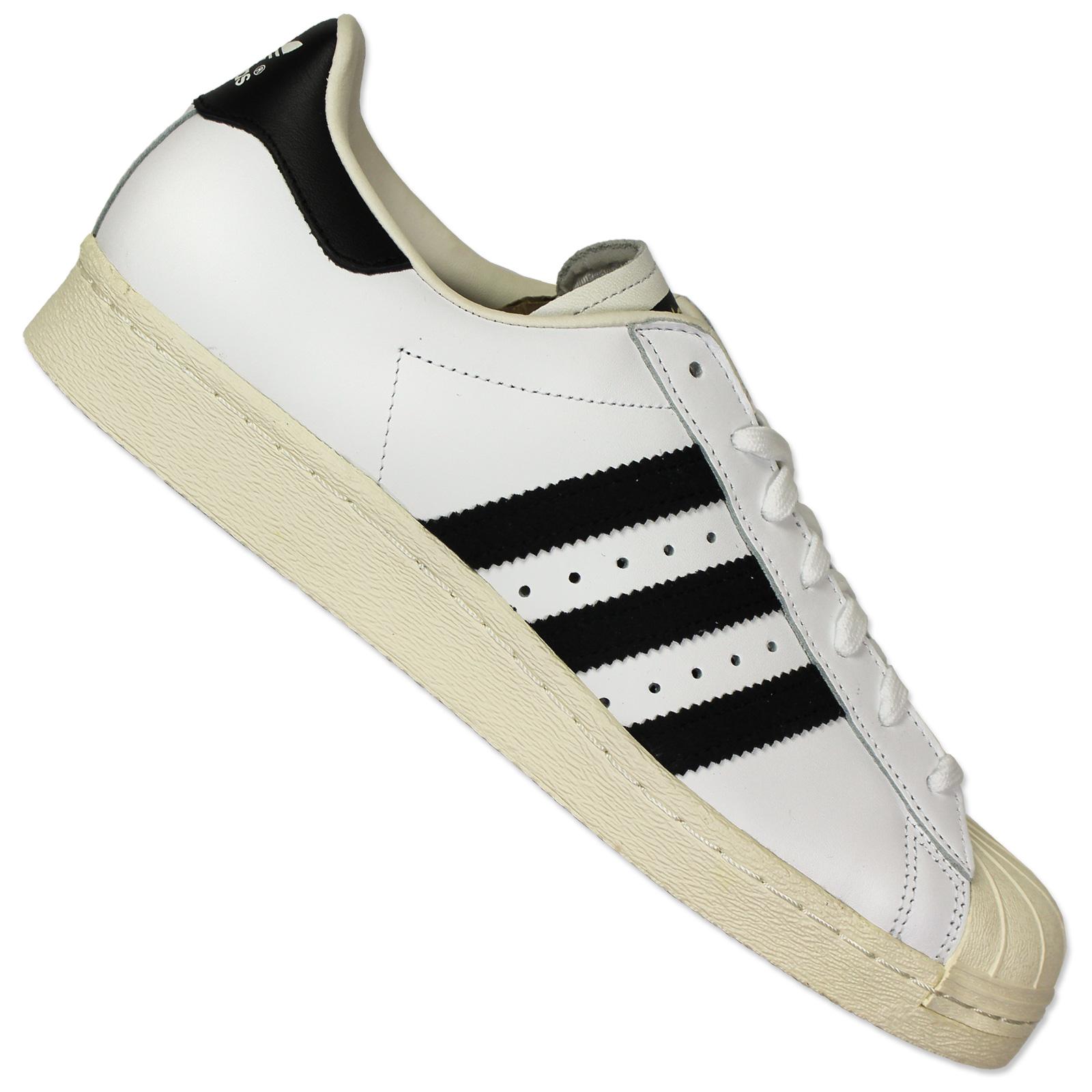 Adidas Superstar II Leder WhiteBlack weissschwarz