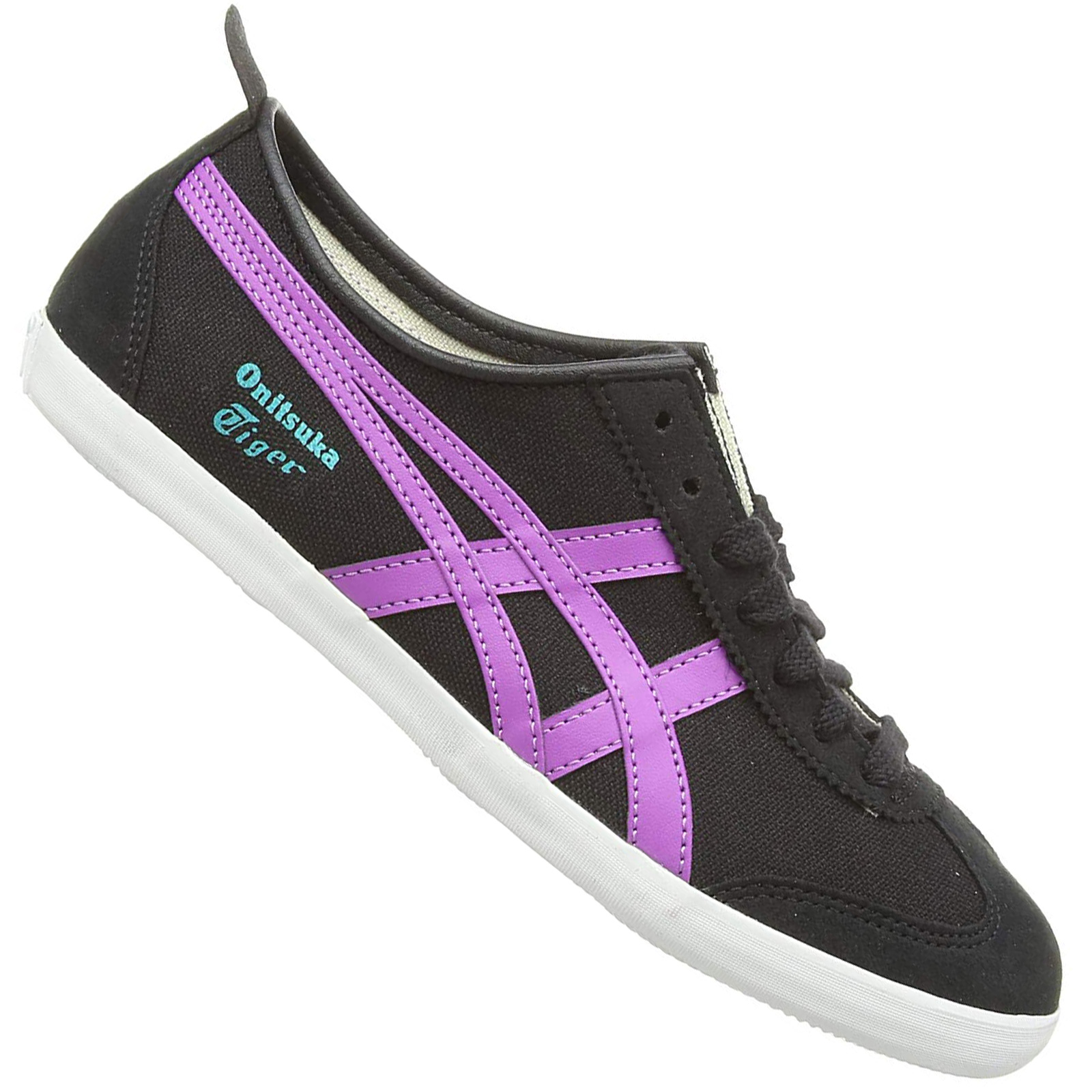 Details about Asics Onitsuka Tiger Mexico 66 Sneaker Women's Girls' Shoes Canvas Black Purple