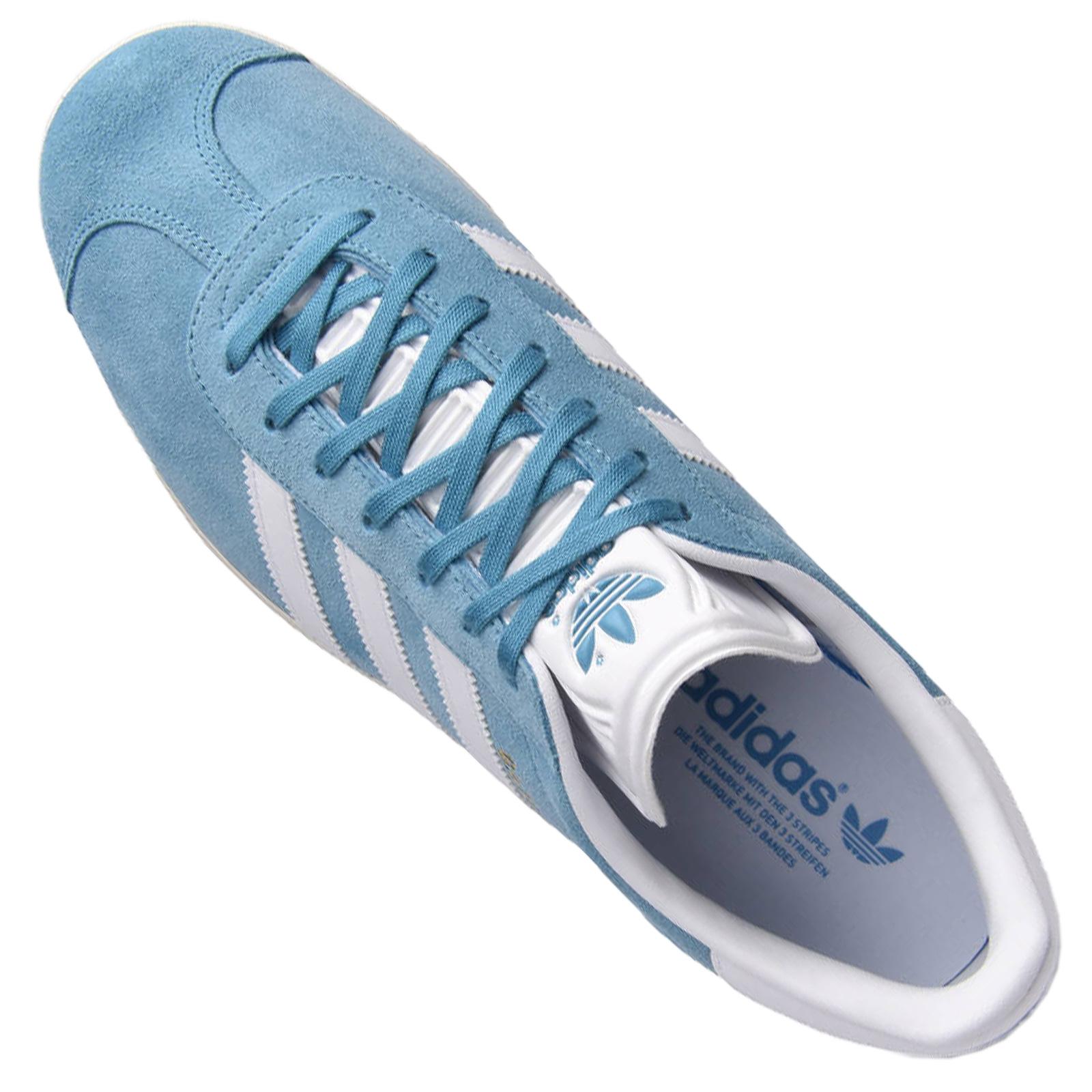582acaa5e8 adidas Originals Gazelle Damen Sneaker BZ0023 Leder Turnschuhe Zart Linen  Grün
