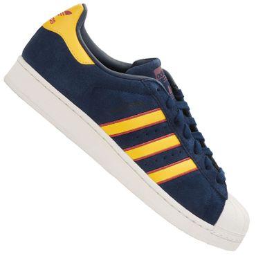 Details zu Adidas Superstar Schuhe Retro Sneaker Freizeit Turnschuhe navy yellow red CM8080