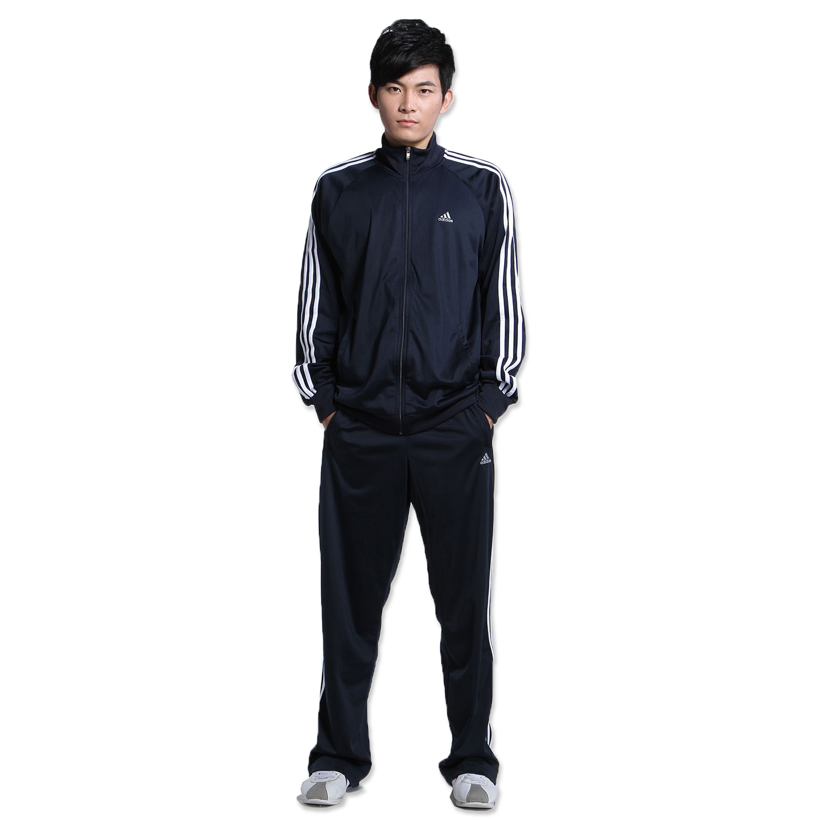 ADIDAS 3S ESSENTIAL Logo Track Track Suit Tracksuit Navy
