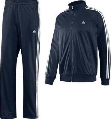 ADIDAS Ess 3 Stripes Herren Trainingsanzug - Darknavy – Bild 3