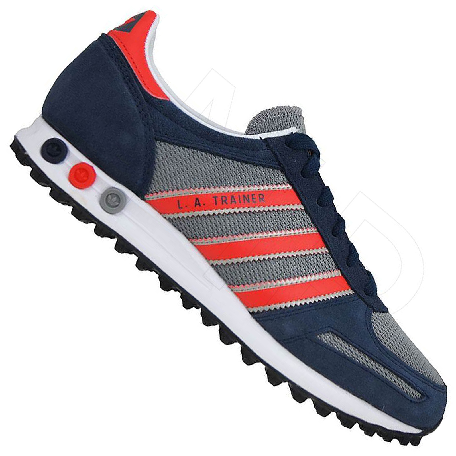 7134e965163714 adidas Originals La Trainer Sneaker Freizeit Schuhe Navy Grau Rot 41 ...