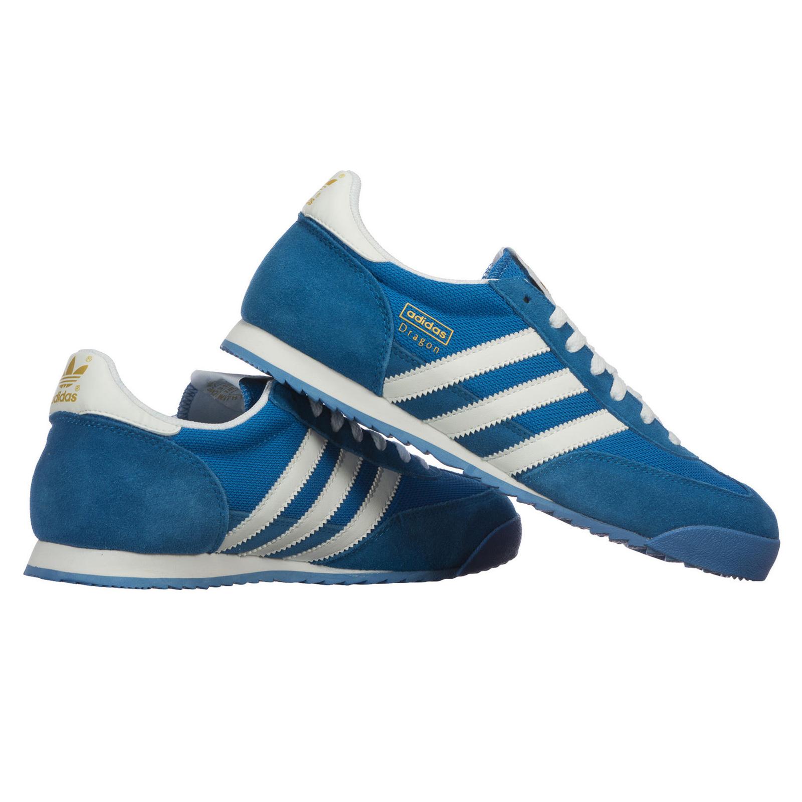 Détails sur Adidas Original Dragon Hommes Loisirs Chaussures Basket de Sport G50922 Bleu