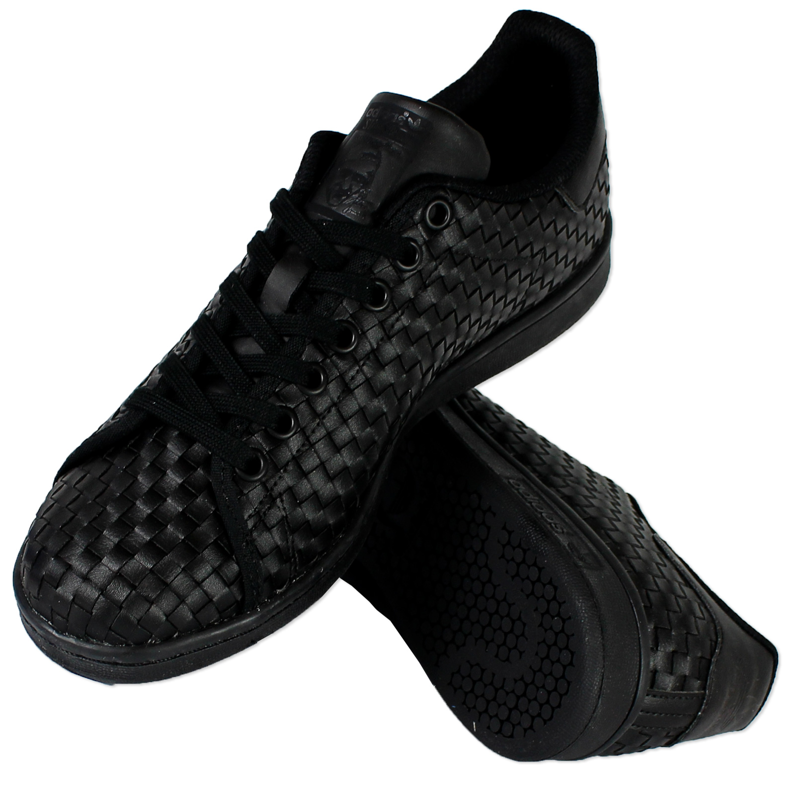 chaussures de sport 0b8ad 2549e adidas Originals Stan Smith Damen Sneaker Woven Turnschuhe Triple Black  Schwarz