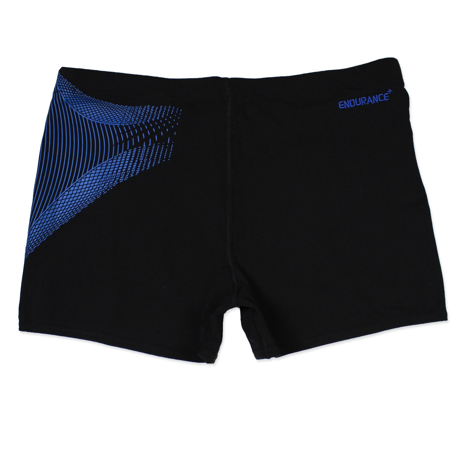 Speedo Aquashorts Herren Boxer Badehose Schwimmhose Badeshorts Schwarz Blau