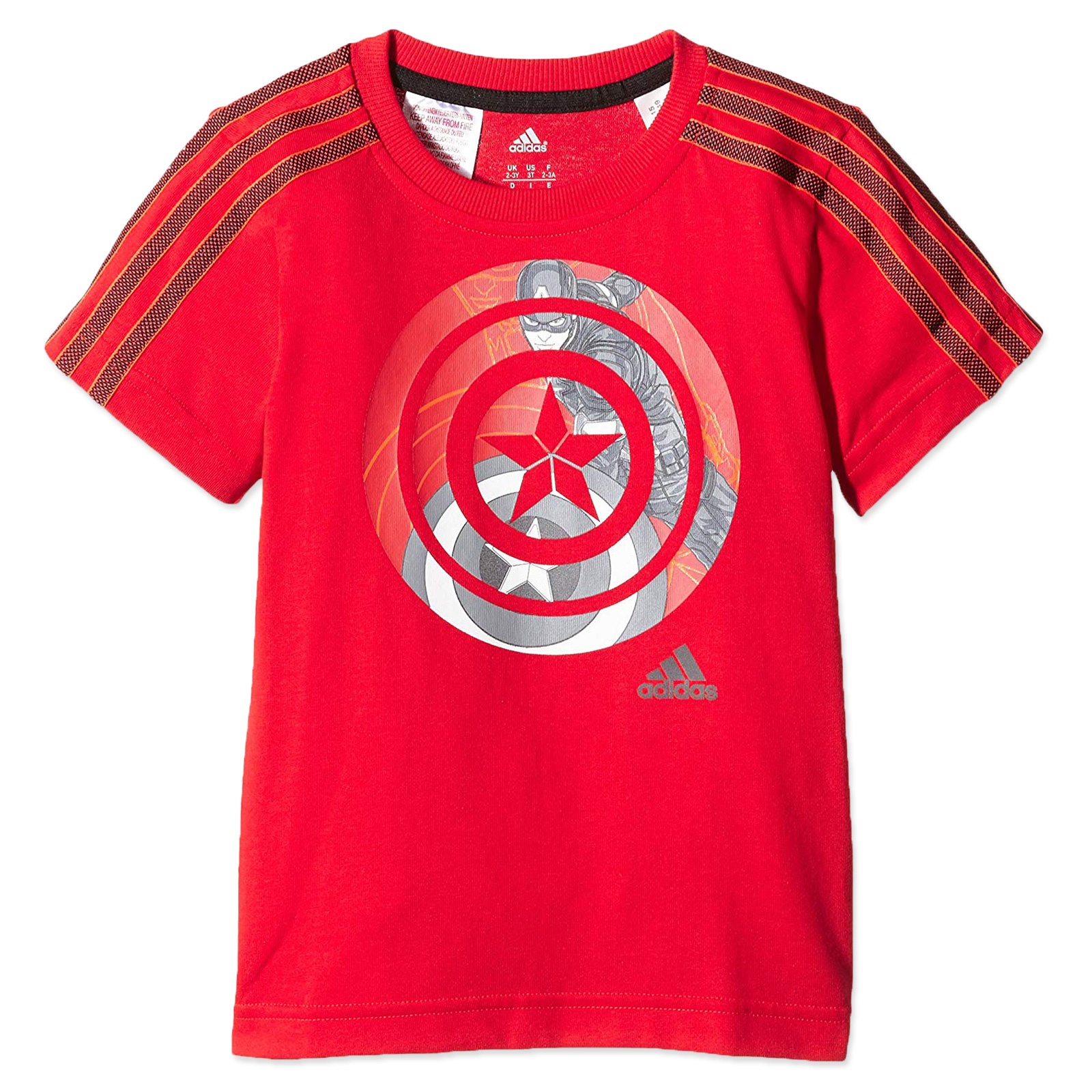 Kids Red Adidas Avenger Tee About X Captain Details Boys Marvel America Shirt Ab5049 T WEDIH9Y2