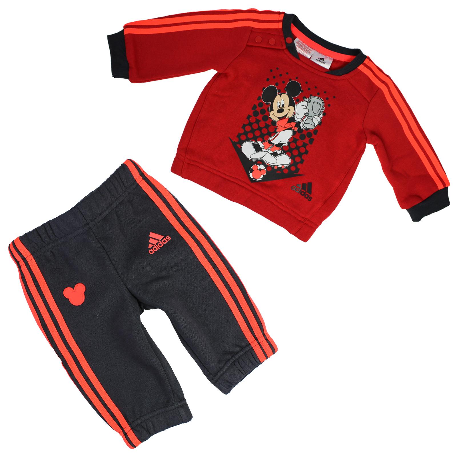 Disney Jungen Mickey Mouse Set T-Shirt Shorts Kurze Hose rot