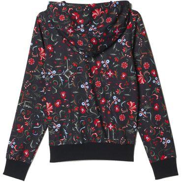 ADIDAS ORIGINALS Adi Trefoil Logo Damen Hoodie Flower All Over Print – Bild 2