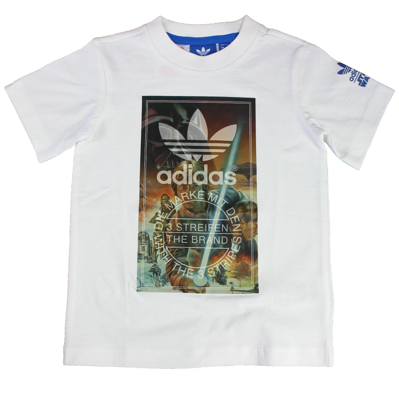adidas Originals Star Wars Archive Tee Luke Skywalker R2D2 Han Solo Kinder Shirt