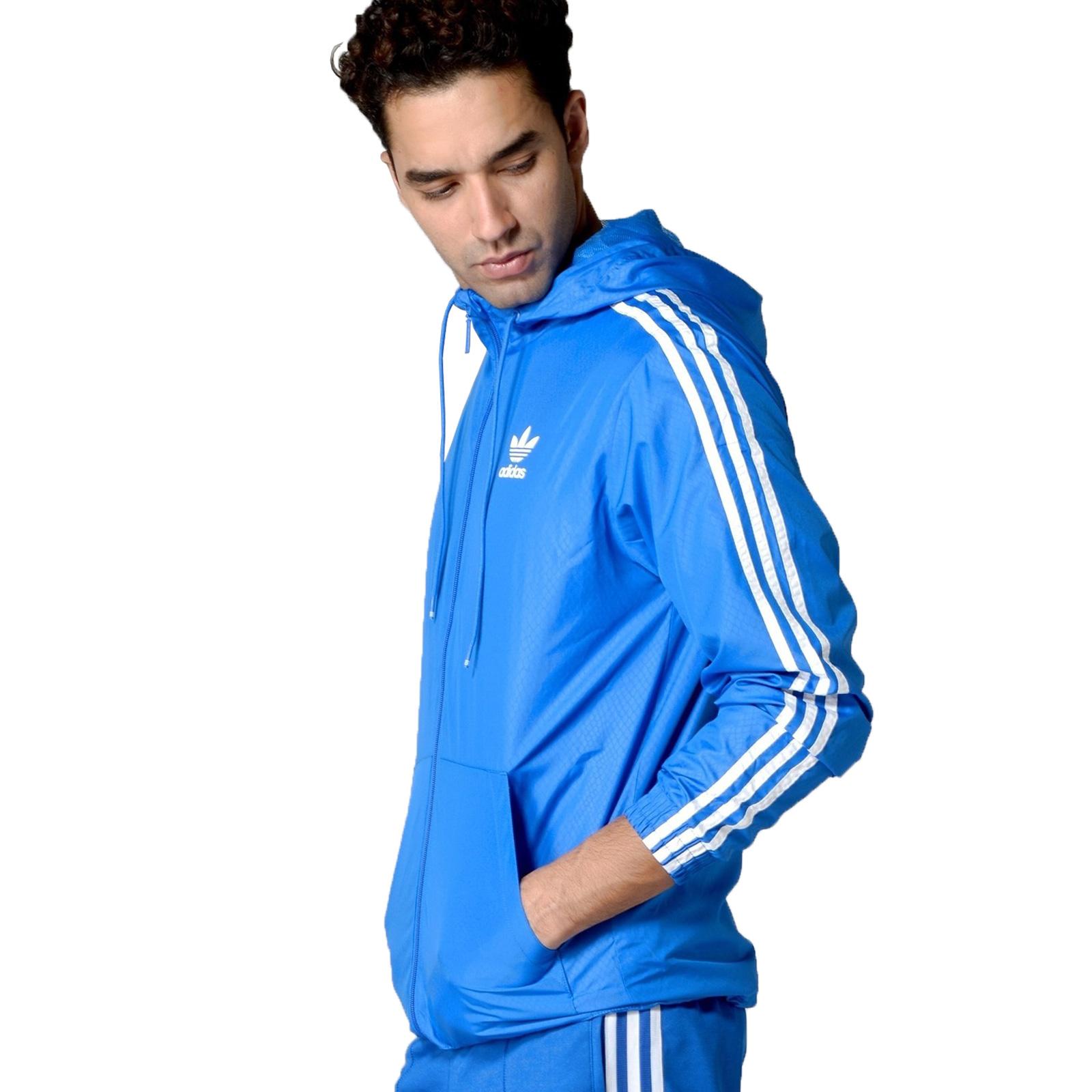 Details about Adidas Originals Men's Jacket Itasca Windbreaker Snake Track Top Blue